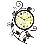 Gyps Home Wohnzimmer Schlafzimmer Büro Cafe Bar Decor Retro Wanduhr Original Vintage Rustikale Wanduhr Die Kreative Iron Bird-Tabelle Continental antiken Mute Wanduhr Wohnzimmer S