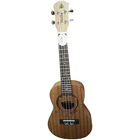 HONSING® 24 pulgadas tono de la escuela secundaria ukulele 4MM ABS tono blanco de punto UK-241S (Color madera)