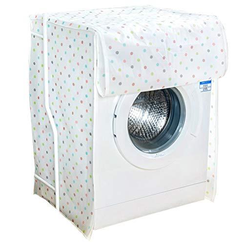 Vosarea Waschmaschine Abdeckung Polka Dot Mustern Wasserdicht Staubdicht Deckel für Waschmaschine Frontlader Wärmepumpentrockner (Frontlader-waschmaschine Abdeckung)
