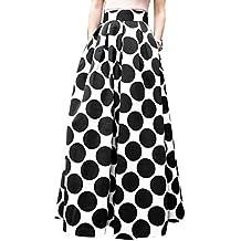 Rcool Falda Corta Faldas Faldas Mujer Invierno Faldas largas Falda Flamenca Mujer, Falda Estampada Punto