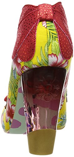 Irregular Choice Delightly Floral Damen Pumps Mehrfarbig (Red/Yellow)