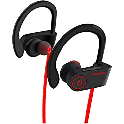 Auriculares Bluetooth 4.1 Inalambricos Yuanguo Cascos Deportivos In Ear Sonido Estéreo con Micrófono y Cancelación de Ruido CVC 6.0 &Tecnología APTX Impermeable IPX7 para Correr Andar en Bicicleta