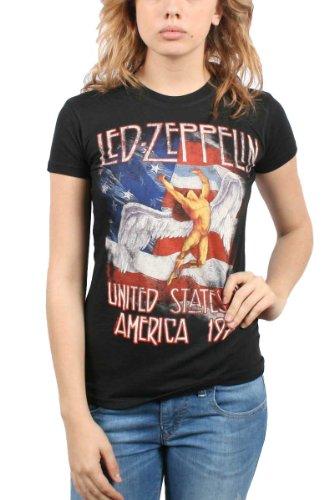 Led Zeppelin - - Des femmes en Amérique 1977 T-shirt en noir, Small, Black