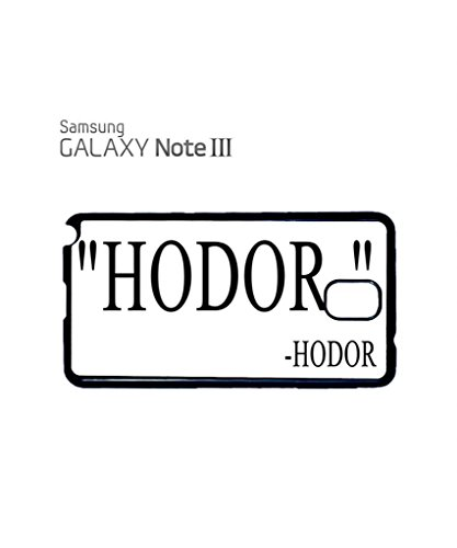 Hodor Quote Mobile Cell Phone Case Samsung Galaxy S5 Mini Black Noir