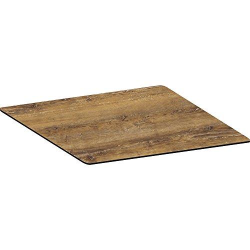 Topalit Tischplatte Smart Line 80x80 cm | Dekor: Atacama Cherry | Kirsch-Holz | 1 Stück