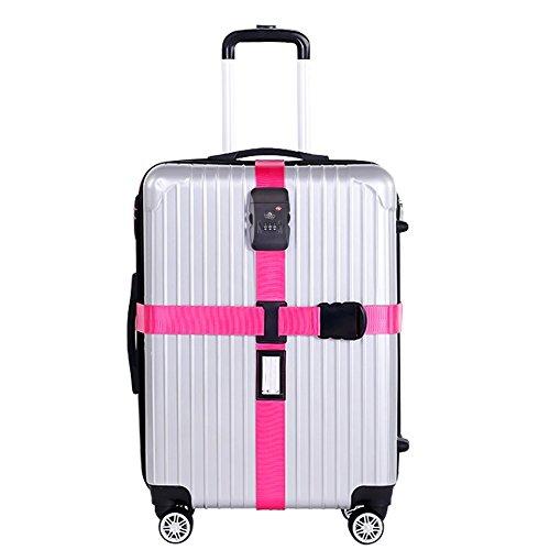 Correa Equipaje-Nylon Resistente/Candado de Combinación TSA-Correa pa