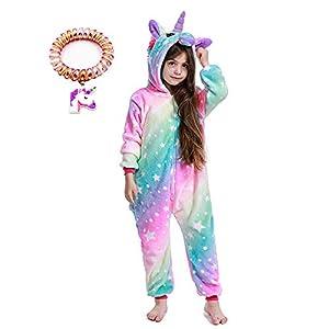 LANTOP - Pijama mono de unicornio para niñas, ideal como regalo de Navidad o Halloween, o como disfraz de cosplay 16
