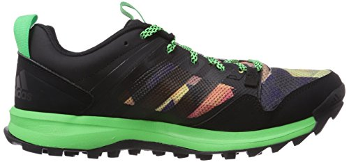adidas - Kanadia 7 Trail, Scarpe tecniche  da uomo Nero(Schwarz (Core Black/Flash Green S15/Core Black))