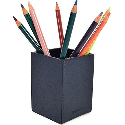 LOXWOOD Le Cabas Parisien Pot à Crayon Cuir grainé Marine