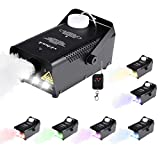 RC Fog Machine with LED Lights Stage Effect Machine for Party DJ Club