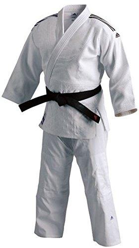 Adidas champion judo gi judo, colore: bianco, 150
