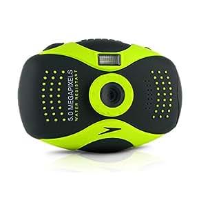 """Speedo Aquashot Appareil photo numérique CCD 5 Mpix Ecran TFT LCD 2,4"""" Mode """"Sous l'eau"""" Mémoire Interne 32 Mo Slot pour Carte SD 2 Go / SDHC 8 Go"""
