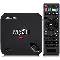 VicTsing MX3 MXIII S812 Quadricône Boîtier TV Android 4K*2K Full HD Lecteur Média avec Gigabit Ethernet Android 4.4 Lecteur Vidéo Plein Charge KODI 4K 2G RAM + 8G ROM pour Netflix