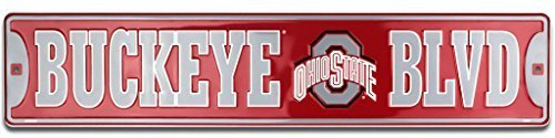 Ohio State University Buckeyes Blvd Embossed Metal Novelty Street Sign - STR20053 by HANGTIME -