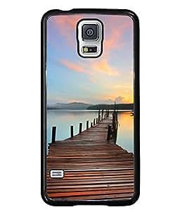 Snapdilla Designer Back Case Cover for Samsung Galaxy S5 Neo :: Samsung Galaxy S5 Neo G903F :: Samsung Galaxy S5 Neo G903W (Horizon Dock Relax Scenery Clam Landscape)