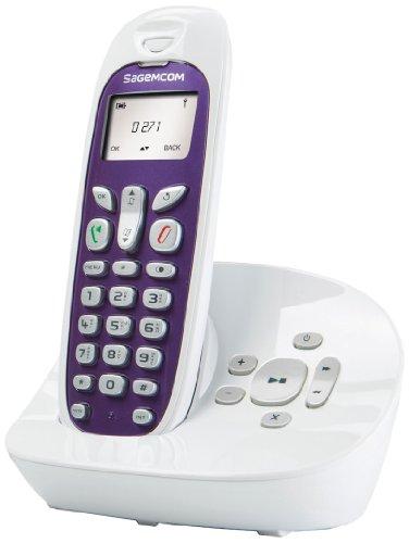 Sagemcom D2701A - Teléfono inalámbrico no RDSI (con contestador), color blanco