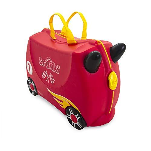 Trunki Trolley Kinderkoffer, Handgepäck für Kinder: Rocco Rennwagen (Rot)