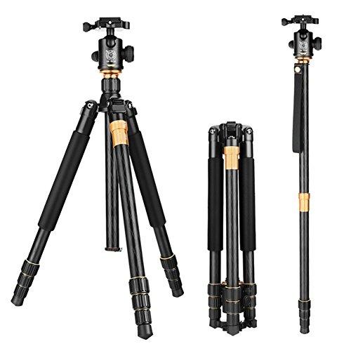 Preisvergleich Produktbild Stativ, zabert DSLR Stativ mit Kopf, 58-inch Professionelle SLR Stative für Canon Nikon Sony Outdoor Fotografie, Heavy Duty