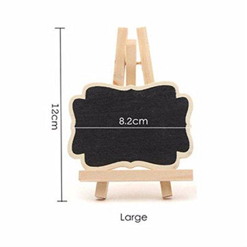 Tutoy 10 Teile / Satz Mini Holz Dreieck Stehen Nachricht Tafel Memo Handwerk Büro Dekoration Lieferungen-L