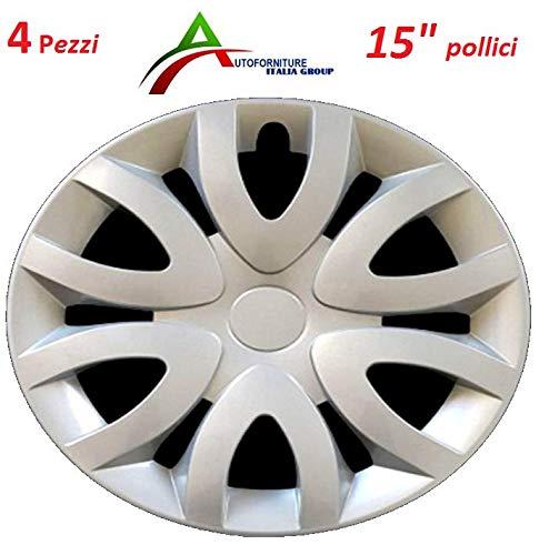 Set 4 copricerchi universali per Auto con Cerchi da 15' Pollici Senza Logo Modello Renault