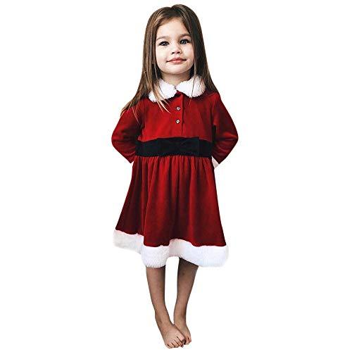 (Selou Baby Weihnachtsrotes Prinzessinkleid Partykleid Flauschige Kleidung Plüsch-Kleid Pullover Niedlicher langer Minirock Abendkleid Holiday benutzerdefinierte Tops)