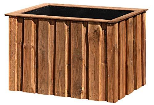 Hochbeet aus Holz KDI braun 124x83x80 groß für Garten
