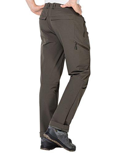 Jack Wolfskin Herren Activate Thermic Pants Men Softshell-Hose, Schwarz, 56 (EU) Olive Brown