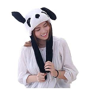 Coomir Panda Filzco Ohrenhut Sweatshirt Ohren Pop-Up Tanz niedlich Spielzeug Hüte