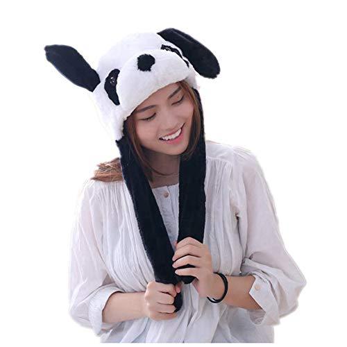 Lanceasy Panda-Ohrenmütze, Plüsch, Airbag-Ohren, Pop-Up, niedliches - Niedliche Kostüm Für Tanz