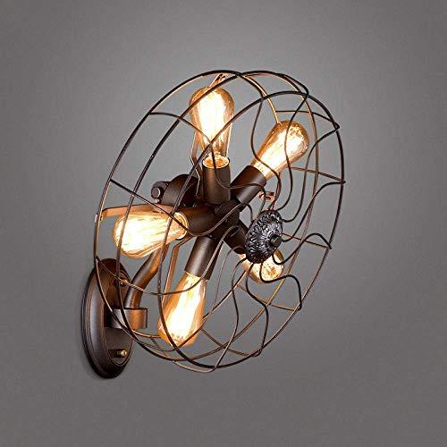 WQWQ Pared Pared de la luz Antigua Industrial Loft Ilumina Vintage Aplique y Bombillas de Edison E27...