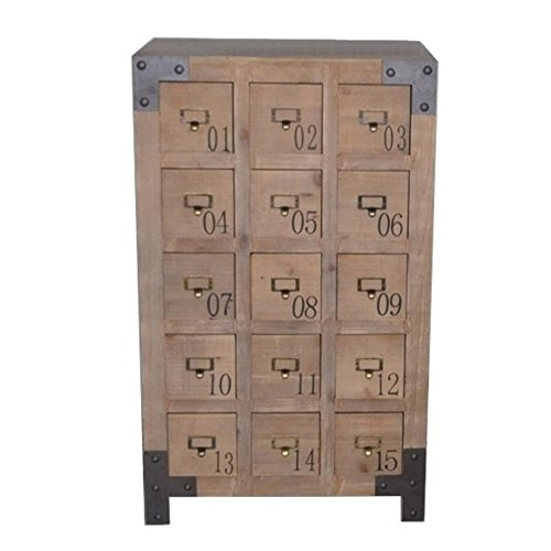 Antyki24 Apothekerkommode Schubladenkommode Kommode Industrial Sideboard Holz Vintage 100 x 60 x 40 cm