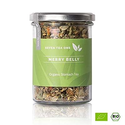 Merry Belly thé pour l'estomac- Thé de détente avec la mélisse, la camomille et le fenouil- Désintoxication- purification et lavage- thé de bien-être- certifié BIO- 70g