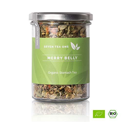 Merry Belly Magen-Tee - Entspannungstee mit Melisse, Kamille und Fenchel - Entgiftung, Entschlackung und Reinigung - Wohlfühl-Tee - BIO-zertifiziert - 70g