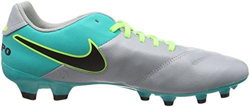 Nike Herren Tiempo Genio Ii Leather Fg Fußballschuhe Mehrfarbig (Wolf grey/black-clr jade-metallic silver)