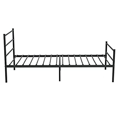 Aingoo Single Metal Bed Frame in Black produced by Aingoo - best deals