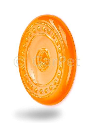 Hunde Frisbee Disc Wurfscheibe schwimmfähig Scheibe Hundespielzeug schwimmt TPR (orange)