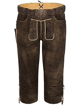 Michaelax-Fashion-Trade Spieth & Wensky - Herren Trachten Lederhose mit Gürtel, Hundolf (311075-1059)