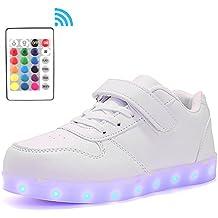 Voovix Bambini LED Light-up Scarpe con Telecomando Low-Top Lampeggiante  Sneakers con Luci df80e279115
