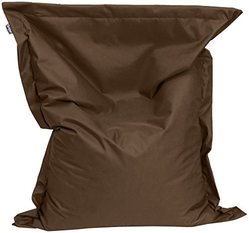 BuBiBag 1-braun-100x70cm Sitzsack, Stoff, braun, 100 x 70 x 12 cm