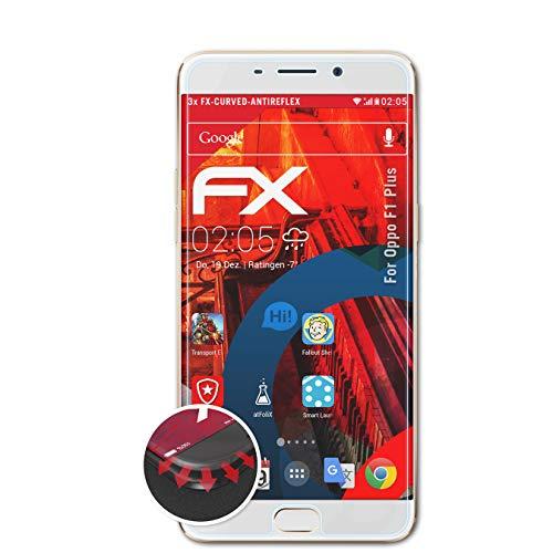 atFolix Schutzfolie passend für Oppo F1 Plus / R9 Folie, entspiegelnde & Flexible FX Bildschirmschutzfolie (3X)