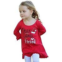 cinnamou Weihnachts Prinzessin Dress Toddler Kids Baby Girl Rüschen Brief Princess Dress Clothes Outfits