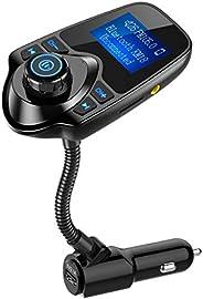 Nulaxy Wireless In-Car Bluetooth FM Transmitter Radio Adapter Car Kit W 1.44 Inch Display Supports TF/SD Card