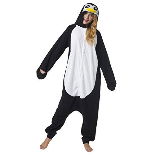 Imagen de kigurumi pijama disfraz de animal traje de dormir para adultos unisex  ideal para cosplay, carnaval o halloween  pingüino con capucha m alternativa