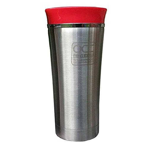 Taza Termiche a prova di perdite, 5 Anni di garanzia travel mug - One Click, con una sola mano - Lavabile in lavastoviglie - Isolamento Sotto Vuoto in acciaio inox, 4 colori Travel Mug, Acciaio INOX, 250 ml ROSSO