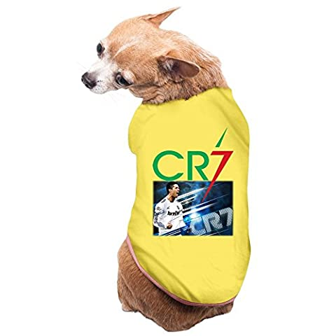 hfyen Cristiano Ronaldo Logo quotidien Pet T-shirt pour chien Vêtements Manteau pour chien Pet chiot vêtements costumes New