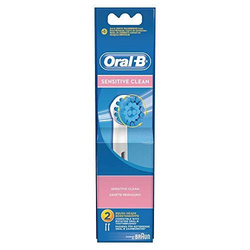 Oral-B - Pack de 2 cabezales para cepillos de dientes recargables - Sensitive Clean EBS17