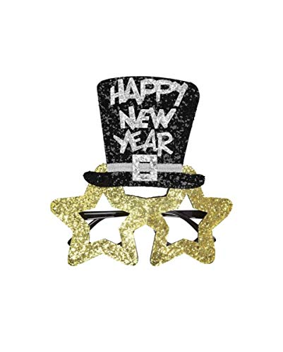 Horror-Shop Goldene Happy New Year Brille für Silvester