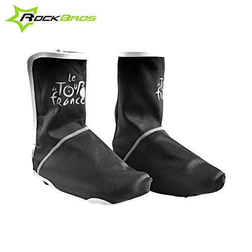darpy (TM) ROCKBROS Vélo Chaussures d'équitation pour jeux d'hiver thermique anti-poussière Housse sport en extérieur pour chaussures vélo Housse coupe-vent pour chaussures