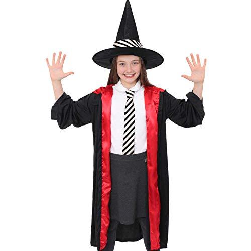 Seemeinthat Kinderkostüm, Hexe, englische Aufschrift, Halloween-Kostüm