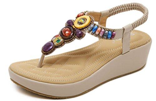 Hishoes 2019 Sandalias Mujer Chanclas Tacon del Verano Cómodos Zapato